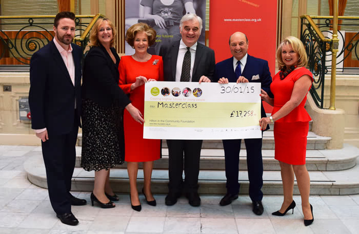 Elaine-Paige-OBE-Accepts-Cheque-On-Behalf-Of-The-Theatre-Royal-Haymarket-Masterclass-Trust-2015